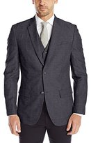 Perry Ellis Men's Slim Fit Linen Cotton End On End Suit Jacket