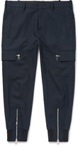 Neil Barrett - Tapered Stretch Cotton-blend Trousers