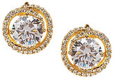 Nadri Cubic Zirconia & Crystal Clip-On Button Stud Earrings