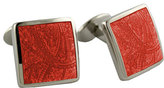 David Donahue Men's 'Paisley Orange' Sterling Silver Cuff Links
