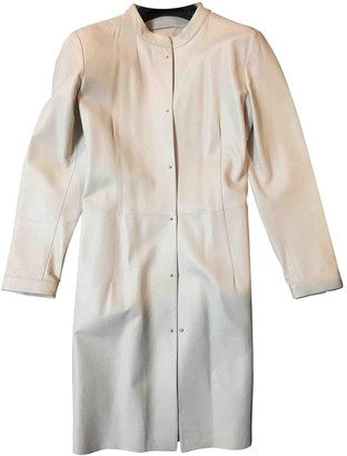 Maison Ullens Pink Leather Trench Coat for Women