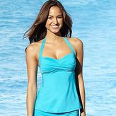 JCPenney Bisou Bisou® Twist Halter Tankini
