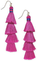 INC International Concepts I.n.c. Gold-Tone Tiered Tassel Drop Earrings, Created for Macy's