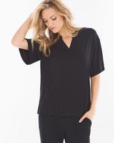 Soma Intimates Pop Over Pajama Top Black