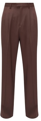 Bottega Veneta Wide-leg Wool-twill Trousers - Brown
