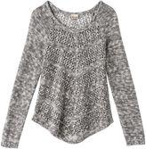 Mudd Girls 7-16 & Plus Size Open-Work Shirttail Sweater