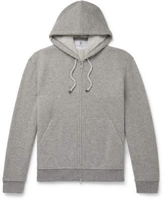 Brunello Cucinelli Melange Cashmere Zip-Up Hoodie
