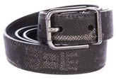 Dolce & Gabbana Key Print Leather Belt