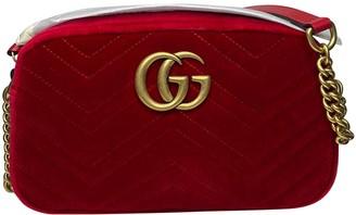 Gucci Marmont Red Velvet Handbags