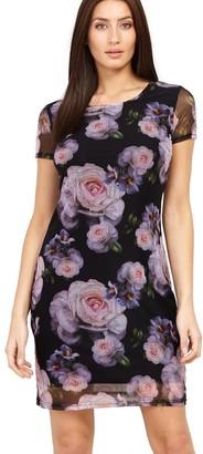 M&Co Izabel sheer floral bodycon dress