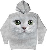 The Mountain Gray Green Eye Kitten Face Hoodie - Unisex