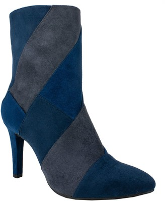 Rialto by White Mountain Patchwork Ankle Boots- Casilda