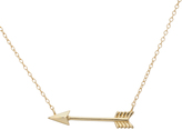Bliss Gold Arrow Pendant Necklace