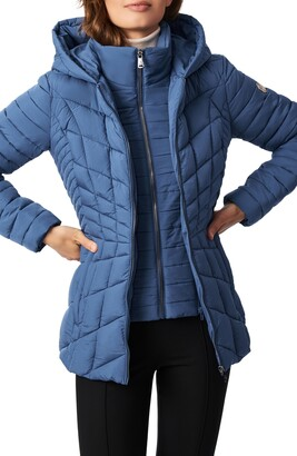Bernardo Micro Touch Water Resistant Quilted Jacket
