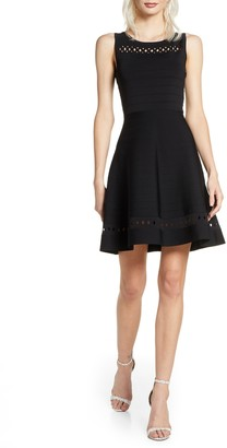 French Connection Kai Fit & Flare Sweater Dress