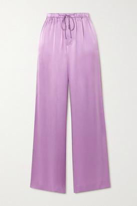 Vince Silk-satin Wide-leg Pants - Lavender
