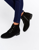 Head Over Heels By Dune Paola Black Lace Up Boots