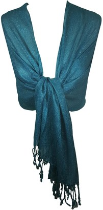 World of Shawls Wedding Party Occasion Shawl Scarf Wrap Hijab (Turquoise)