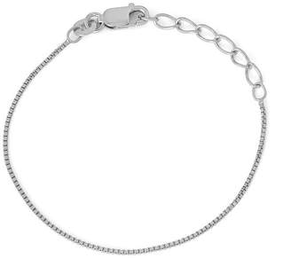 FINE JEWELRY Children's Sterling Silver 6 Inch Box Chain Bracelet