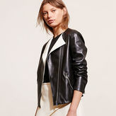 Ralph Lauren Dual-Toned Leather Jacket