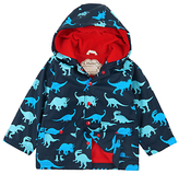 Hatley Boys' Lots of Dinos Dinosaur Raincoat, Navy