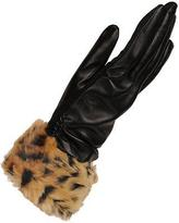 Wilsons Leather Womens Touch Point Glove W/ Faux Fur Cuff And Thinsulate Lining