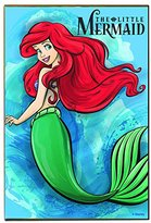"""Disney Silver Buffalo DQ4436The Little Mermaid Floating, Look Over Shoulder Wall Art, 13"""" by 19"""""""