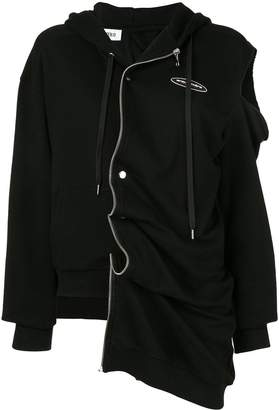 Ground Zero asymmetric zip front hoodie