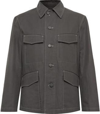 Lemaire Cotton and Linen-Blend Canvas Field Jacket - Men - Gray