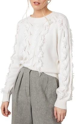 Rails Francis Fringe Trim Sweater