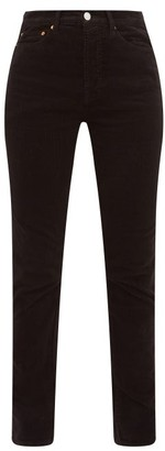 RE/DONE Slim-leg Cotton-blend Corduroy Trousers - Black