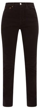 RE/DONE Slim-leg Cotton-blend Corduroy Trousers - Womens - Black