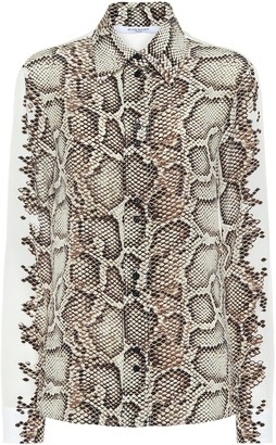 Givenchy Snake-print silk shirt