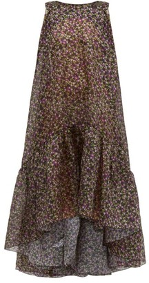 Romance Was Born Dream Factory Semi-sheer Floral Organza Dress - Womens - Black Multi