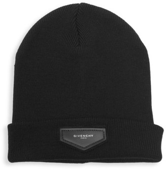Givenchy Wool & Cashmere Logo Toque