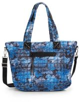 Saks Fifth Avenue Printed Quilted Nylon Tote