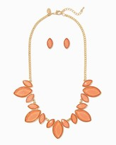 Charming charlie Shimmering Bib Necklace Set