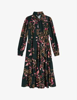 Ted Baker Jardin floral-print crepe midi dress