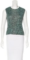 Blumarine Sleeveless Abstract Print Top