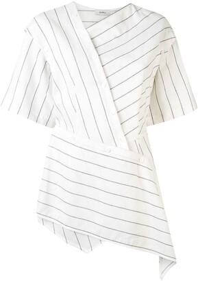 GOEN.J Asymmetric Striped Blouse