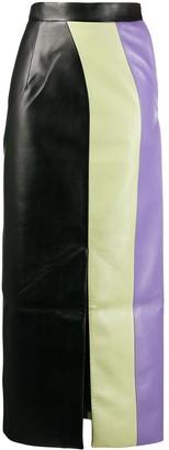 MATÉRIEL colour-block maxi skirt