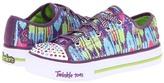 Skechers Twinkle Toes - Shuffles 10273L Lights (Little Kid/Big Kid) (Purple) - Footwear