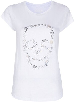 Zadig & Voltaire Skinny Strass Skull Stars t-shirt