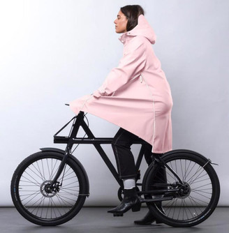 Maium - Pink Raincoat X Poncho Recycled PU - PU   pink   large - Pink/Pink