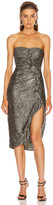 Jonathan Simkhai Sequin Strapless Bustier Dress in Black | FWRD