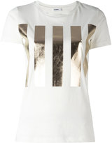 Jil Sander high shine bars print T-shirt - women - Cotton - L