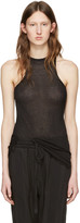Haider Ackermann Black Raw Hem Tank Top