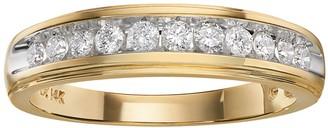Lovemark 14k Gold Two-Tone 3/8-ct. T.W. Diamond Wedding Band