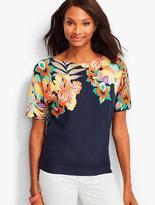 Talbots Dolman Sleeve Sweater - Orchid Bouquet