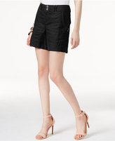 INC International Concepts Linen Curvy-Fit Shorts, Created for Macy's